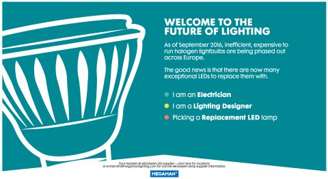 Megaman Helps Electricians and Designers Get Ready for the Halogen Ban With the Launch of a New Website