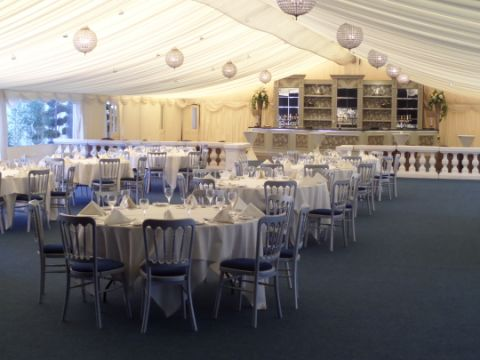 More Megaman LEDs in Coombe Abbey's Marquee