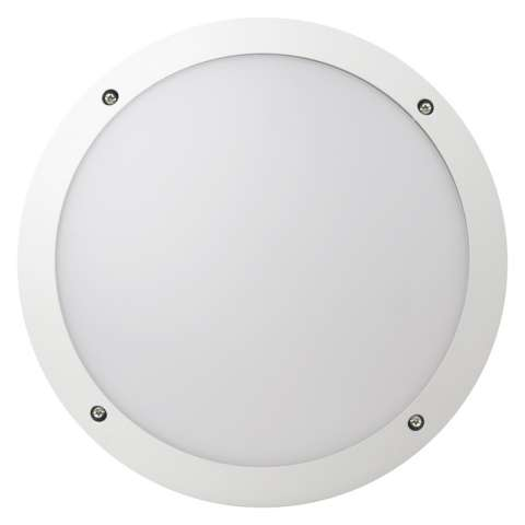 Fonda 10.5W Integrated LED Round Bulkhead (White)