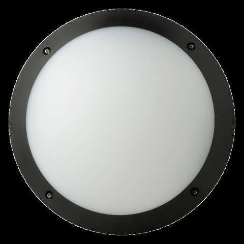 Fonda 10.5W Integrated LED Bulkhead Round 3000K (Black)