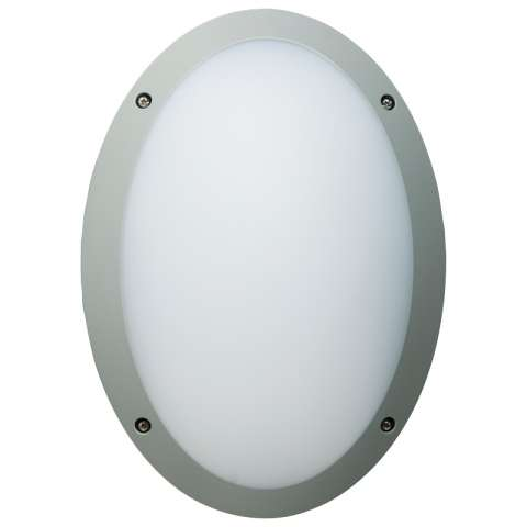 Fonda 10.5W Integrated LED Bulkhead Oval (Silver)