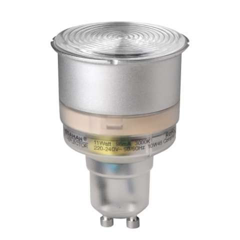 CFL 11W GU10 Reflector with PowerLENS, 90°, 3000K